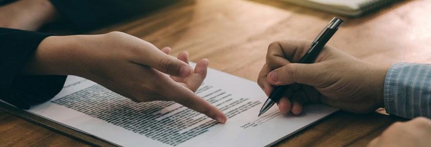 un document juridique